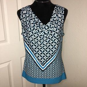 Calvin Klein sleeve less pattern top